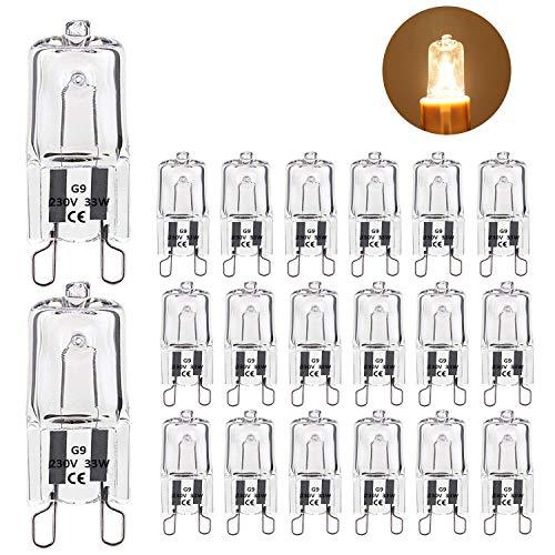 Lampadina Alogena G9 Kimjo Bicchiere 33W 480LM 230V Lampada Alogena Dimmerabile Bianco Caldo 2700K (Confezione da 20)