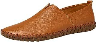 Goddessvan 2019 Men's Plus Size Business Leather Shoes Non-Slip Comfortable Casual Driving Flat Shoes