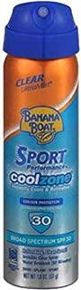 Banana Boat Sun Screen Sport Spray SPF 30 UltraMist Coolzone 1.8 oz (Travel Size), 2 units