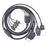Gigaware Universal RCA Composite/S-Video Gaming Video Cable for PS3, PS2, Xbox 360 and Nintendo Wii