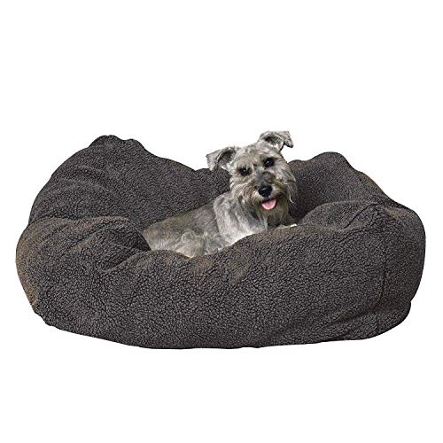 K&H Pet Products Cuddle Cube Pet Bed, Gray, Small/24' x 24'