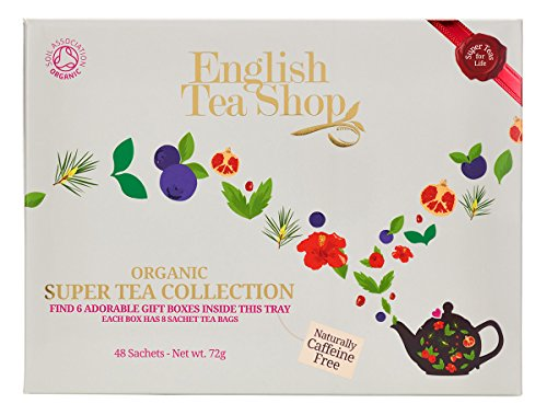 English Tea Shop Organic Super Tea Collection 6 Packs of 8 Tea Bags (48 Bags in total), 72g 58281