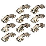 Gedotec Aufschraubscharnier mit Feder Gelenkscharnier für Klappen & Schränke   Federscharnier EASY-ON zum Schrauben   Klappen-Scharnier Stahl verzinkt   10 Stück - Möbelscharnier mit Schließautomatik