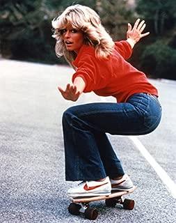 Erthstore 11x14 inch Fine Art Print of Farrah Fawcett Skateboarding Charlie's Angels Tv Poster 1970's