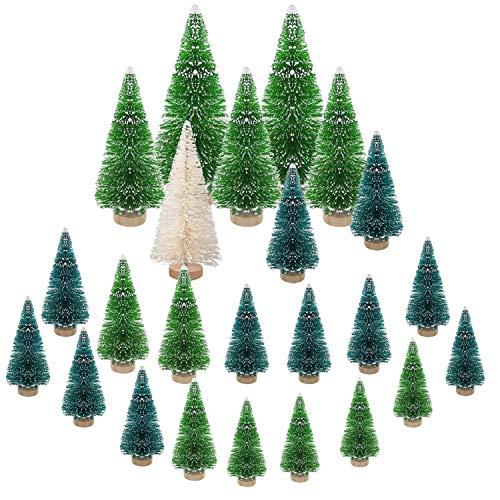 LOVEXIU Mini Alberi di Natale,Decorazioni Natalizie Ornamenti Decorazioni Natalizie La Tavola Tavolo Casa Festa per Decorazioni per Bambini per Artigianato Fai-da-Te,Regali Bambini