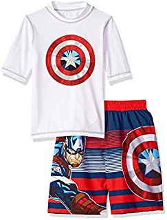 Marvel Boys' Little Captain America 2-Piece Swim Set, White/red/Blue, 7 (B078NJ9MXM) | Amazon price tracker / tracking, Amazon price history charts, Amazon price watches, Amazon price drop alerts