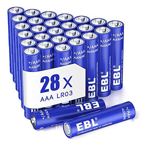 EBL 28 pcs Alcaline AAA Batterie - 1.5V Tripla a Lunga-Durata Mini Pile Stilo AAA