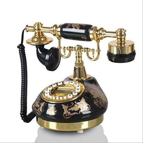 YSNUK Cerámica Bronceado jardín teléfono hogar Vintage Vintage Fijo teléfono Fijo Teléfono rotatorio