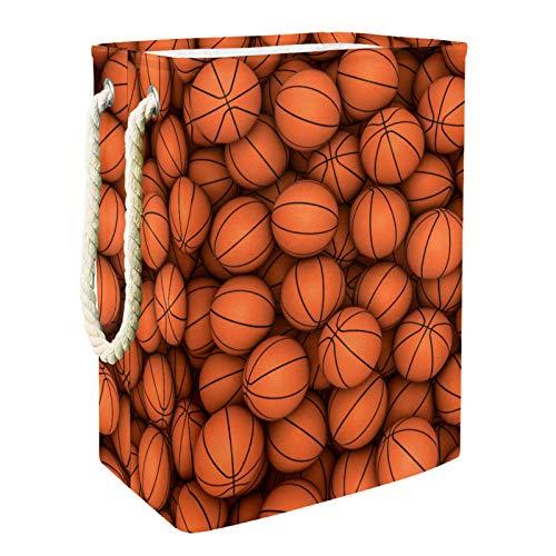 Cesto de La Ropa Baloncesto Deportivo Caja De Almacenamiento De Ropa Sucia Cesto De Lavado Delgado 49x30x40.5cm