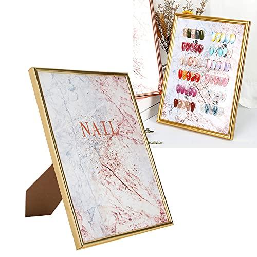 Nagelfarben-Anzeigetafel, bruchsichere DIY abnehmbare Nail Art mit Halter für Bilderrahmen für Nail Art Requisiten für Fotografie Requisiten