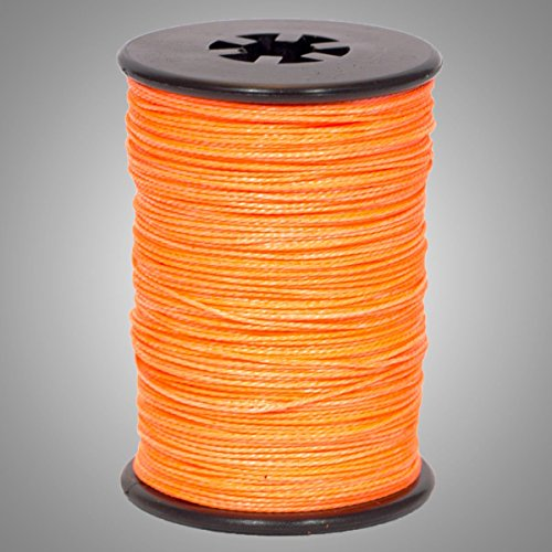 """Flo Orange BCY .014"""" Braided Spectra Serving Material Spool Bow String"""