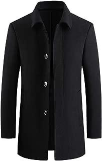Men's Wool Coat Coat Men's Casual Trench Coat Fashion Business Long Slim Overcoat Jacket Outwear