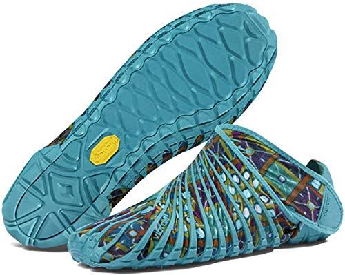 YLLYI Calzado Deportivo Portátil Plegable, Calzado Envuelto Vibram Furoshiki, Calzado para Correr Ultraligero para Cinco Dedos,Verde,XS