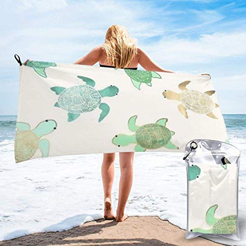 shenguang Turtle Write Printed Travel Quick Dry Bath Towels Sports Gym Microfiber Beach Towels Camping Swimming Compact Towel