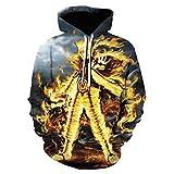 ryyhd Unisex Naruto 3D Print Pullover Hoodie Sudadera Anime Cosplay Disfraz Chaqueta Prendas De Abrigo-3_Size_XXXL