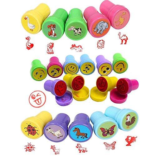 BigLion Sellos Niños de Animales Entintado Infantiles Emoji Estampillas Juguetes Animals Stamps Conjunto Sellos Animales Party Favors,Premios Escolares,Regalo Cumpleaños,Aprendizaje Accesorios