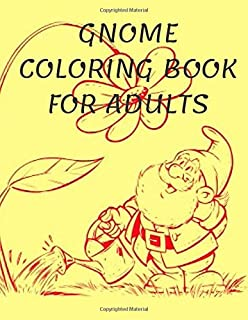 Gnome Coloring Book Adults Stress Relief