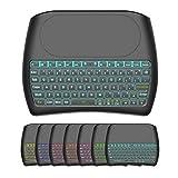 Mini Wireless Keyboard,D8 Mini Keyboard with Touchpad,Colorful Backlit Small Wireless Keyboard,Mini Handheld Remote Keyboard for PC,Raspberry Pi 4, Android TV Box,KODI,Windows 7 8 10