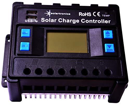 solartronics 60A Laderegler 12V/24V blau Photovoltaik Solarladeregler Solar PV