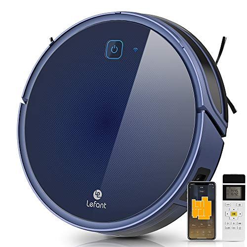 Lefant Robot Vacuum Cleaner ,Quiet Self-Charging Robotic Vacuum Cleaner, 2000Pa Strong Suction, 120 mins Runtime, Wi-Fi Connected, Works with Alexa, Ideal for Pet Hair, Carpets & Hard Floors (T800)