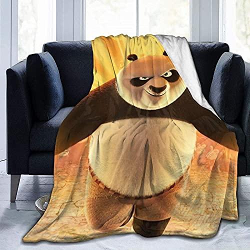 Kungfu Panda - Manta de TV con franela anti pellizcos para mujeres y hombres