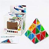 XUEE Zauberwürfel Transparent Dreieck Pyramide Würfel Geschwindigkeit Würfel Peeling Aufkleber Freunde -