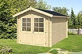 Alpholz Gartenhaus Bremen-28 C aus Massiv-Holz | Gerätehaus mit 28 mm Wandstärke | Garten Holzhaus inklusive Montagematerial | Geräteschuppen Größe: 250 x 400 cm | Satteldach