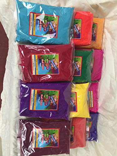 Holi Colors, 12 Lbs 6 Colors (2lbs ea Color) or 12 lbs 12 Colors in 1 lb Bags, Whatever Available