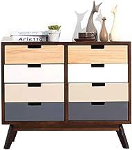 Bedside Table Bedside Table-Nightstand Modern Nordic Simple Drawer Cabinet TV Cabinet Storage Cabinet Multi-Drawer Locker/...