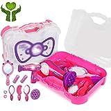 Mädchen Make-up Spielzeug Mädchen Make-up Rollenspiel Spielzeug Kinder Cosplay Kommode Kit Prinzessin Simulation Play House Koffer Spielzeug Geschenk (Color : Pink, Size : 31 * 26cm)