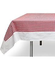 Tafelkleed vierkant katoen 180x180 cm VICHY rood, Jacquard