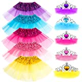 Princess Dress up Accessories 10 Pieces Girl Gift Set Tutu Dress up Toy Play Party Favors Costume for Girls