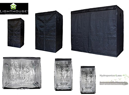 LIGHTHOUSE LITE Portable Grow Tent Green Room Silver Mylar Hydroponics Carbon (LITE 1m2 - 1x1x2m)