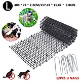 Rubyu Chien Chat Scat Spike Mat Canapé Meubles Protection Chat Scat Spike Mat Cat Repellent Mat, Anti-Cats Network Digging Stopper Prickle Strip Home Spike Deterrent Mat