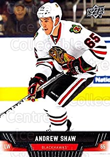 (CI) Andrew Shaw Hockey Card 2013-14 Upper Deck (base) 114 Andrew Shaw