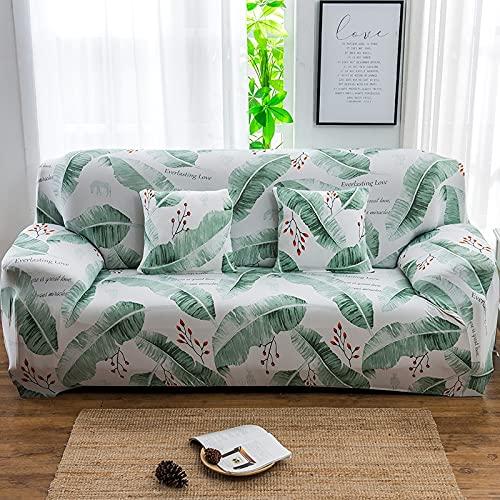 WXQY Juego de Funda de sofá elástica, Funda de sofá Antideslizante Todo Incluido. Sala de Estar Funda de sofá de combinación de Esquina en Forma de L A25 4 plazas