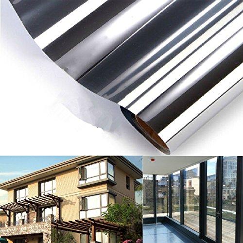 DyNamic 150x50CM Eenrichtingsspiegel Glas Sticker Reflecterende Isolatie Zilveren Raamfolie
