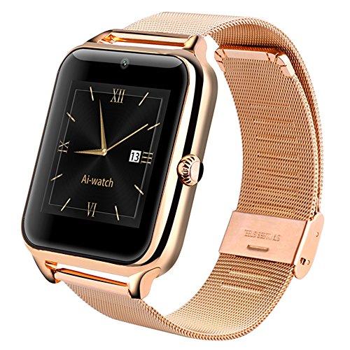 AIWatch Z50 Smart Watch con TF/SIM Bluetooth para iOS y Android (Oro)
