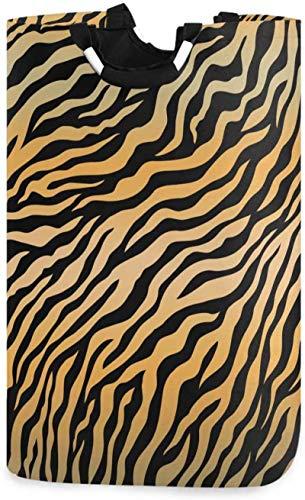 LYSOZ Tigre animal de la impresión de lavandería Cesto leopardo de la cesta de lavadero grande de la caja de almacenamiento impermeable for llevar fácil Familia habitación compartida de lavandería, 12