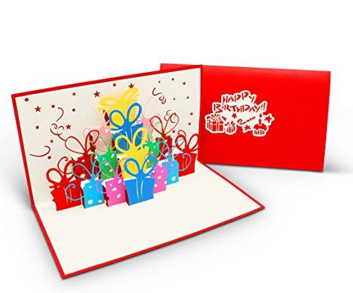 Überraschende Geburtstagskarte für Glückwunsch & Jubiläum - hochwertige 3D Pop-Up Karte zur Gratulation zum Geburtstag - tolle Glückwunschkarte für Geburtstagsgrüße
