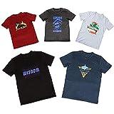メンズ 半袖 Tシャツ 大きいサイズ 5枚組 デザイン固定 夏 プリント アウトドア 透けない 綿100 6L [rnt-2001~2005-6L]
