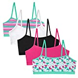 Simply Adorable Girls Training Bras (Stripe Butterfly Teal Multi, Extra Large)