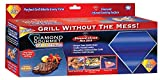 Spark Innovators Diamond Gourmet Grill & Bake Mats - Set of 2 - As Seen on TV - Grilling, BBQ