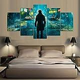 UDPBH HD Print Leinwand Modulare Bilder Regenmode für Wohnzimmer Dekor Poster