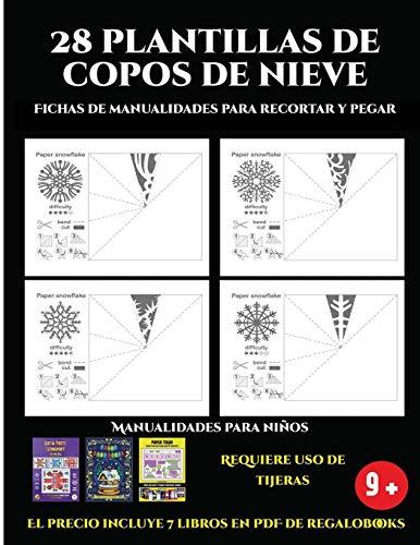 Fichas de manualidades para recortar y pegar (28 plantillas de copos de...