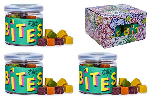 Supergarden BITES Snack-Box - Gesunder Snack Aus Gefriergetrockneten Früchten, Gemüse Und Beeren - 100% Rein Und Natürlich - Für Veganer Geeignet (Gemüse)