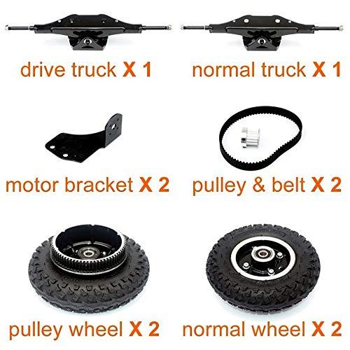 L-faster Offroad Skateboard Truck Mountain Longboard 11 Zoll LKW DIY Teile für Offroad Skateboard Downhill Board Komponenten (kit 1)