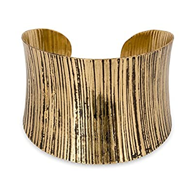 New! Cuff Bracelet Curved Gold and Silver Antique   SPUNKYsoul Collection