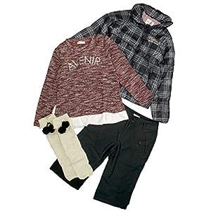 福袋 キッズ 女の子 ガールズ Pianissimo おしゃれ 見える福袋 長袖 秋冬物 見えるハッピーバッグ KIDS 4点入り プレゼントにも 150cm 8柄