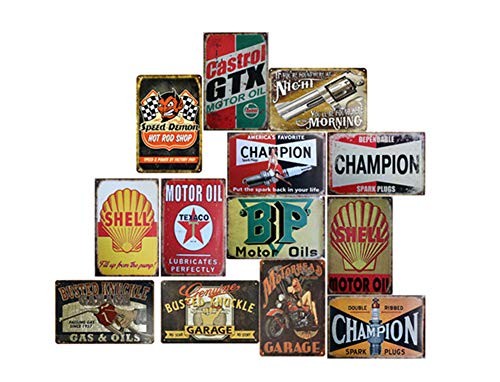 Smoro 5PCS 20x30cm Signe de Plaque de Mur en métal Vintage Affiche pour café Bar pub bière Restaurant à Domicile